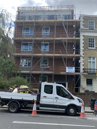 Front Elevation to Residential Flat Repairs