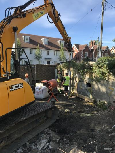 New House Building at Etchingham, works underway
