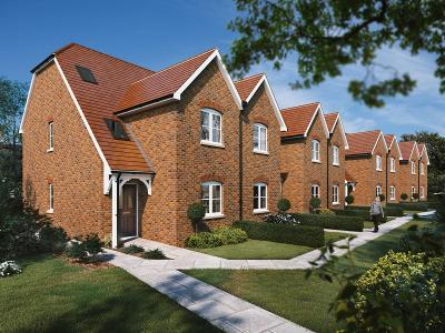Image of finished construction on 8 New Terraced Houses at Burgess Hill, West Sussex