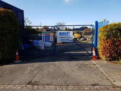 Site Entrance View of Construction Works for 8 New Terraced Houses at Burgess Hill, West Sussex