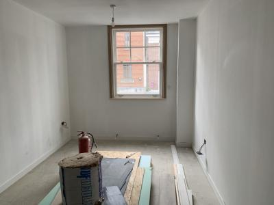 Ongoing works of property conversion into flats